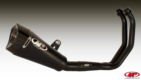 M4 15-20 Yamaha FZ-07/MT-07/XSR700 RM1 Full Exhaust - Black Canister