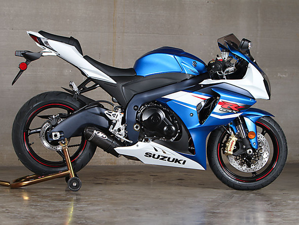 M4 12-16 Suzuki GSX-R 1000 Street Slayer Full Exhaust - Carbon Canister