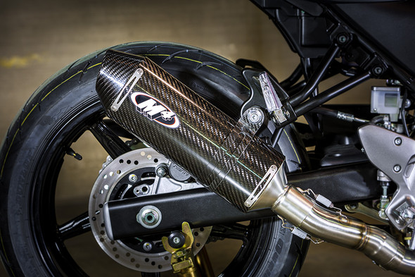 M4 17-20 Suzuki SV650/X Full Exhaust - Carbon Canister