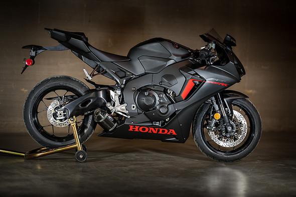 M4 17-19 Honda CBR1000RR Street Slayer Slip-On Exhaust - Carbon Canister