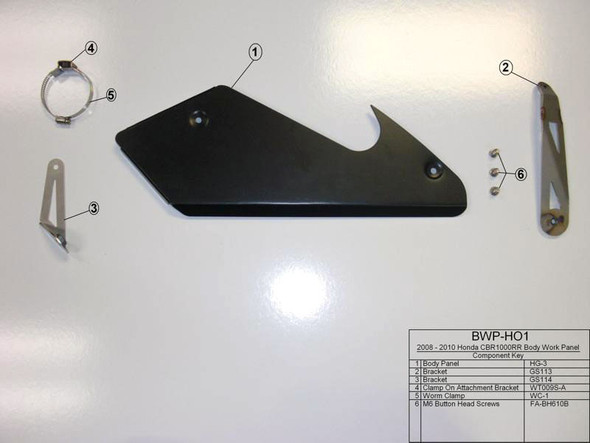 M4 08-16 Honda CBR1000RR Body Panel