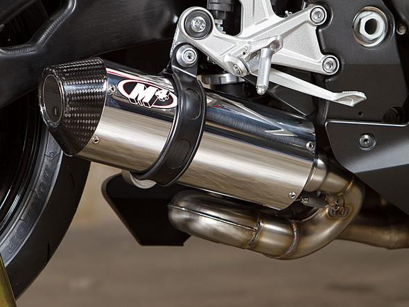 M4 16-18 Honda CBR1000RR Street Slayer Slip-On Exhaust - Polished Canister