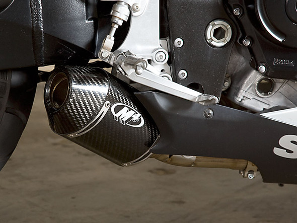 M4 06-07 Suzuki GSX-R 600/750 Street Slayer Slip-On Exhaust - Carbon Canister