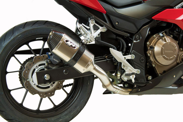 M4 16-18 Honda CBR500R Slip-On Exhaust - Titanium Canister