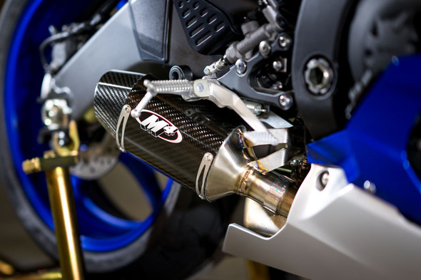 M4 06-20 Yamaha R6 Street Slayer Slip-On Exhaust - Carbon Canister
