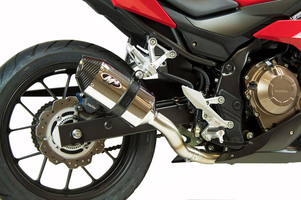 M4 16-18 Honda CBR500R Slip-On Exhaust - Polished Canister