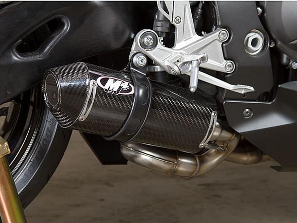 M4 16-18 Honda CBR1000RR Street Slayer Slip-On Exhaust - Carbon Canister