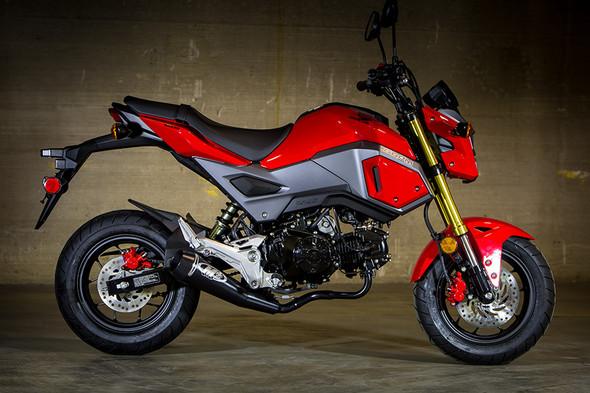 M4 17-20 Honda Grom GP Full Exhaust - All Black Canister