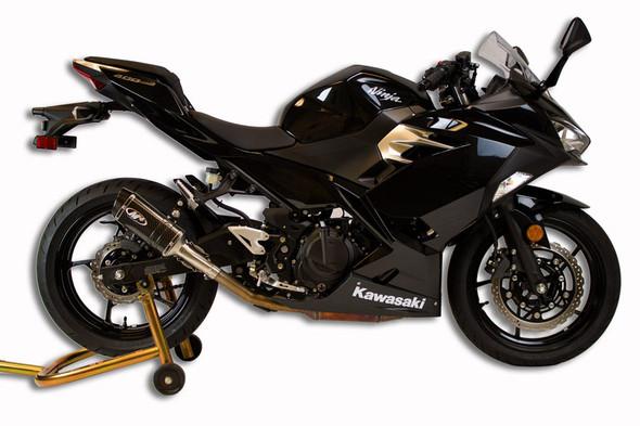 M4 18-20 Kawasaki Ninja 400/Z400 Slip-On Exhaust - Carbon Canister
