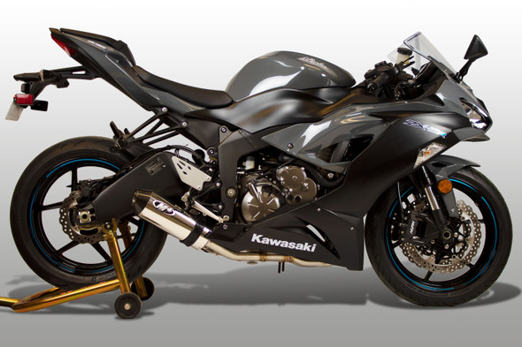 M4 09-20 Kawasaki ZX-6R/ZX636 Street Slayer Full Exhaust - Polished Canister
