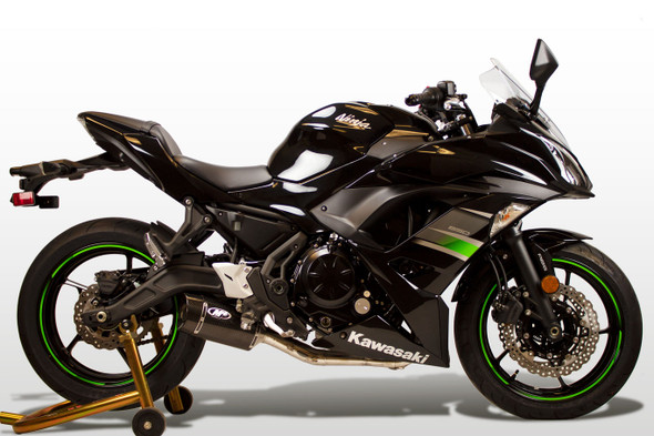 M4 17-20 Kawasaki Ninja 650 Full System Exhaust - Carbon Canister