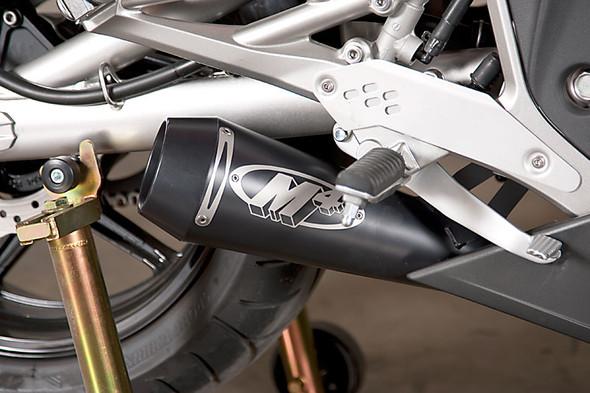 M4 09-11 Kawasaki Ninja 650 GP Slip-On Exhaust - Black Canister