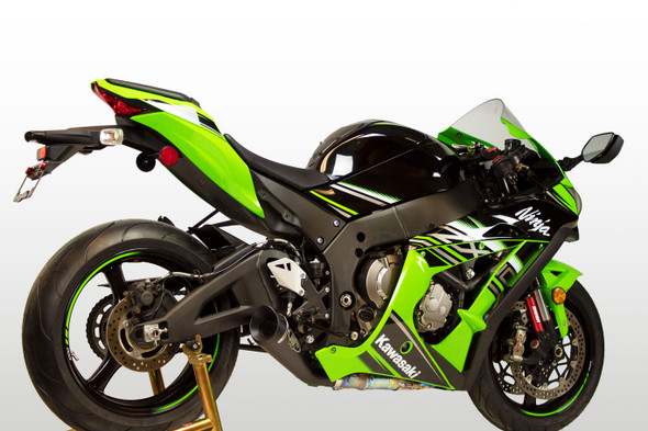 M4 16-20 Kawasaki ZX-10R GP19 Slip-On Exhaust - Black Canister