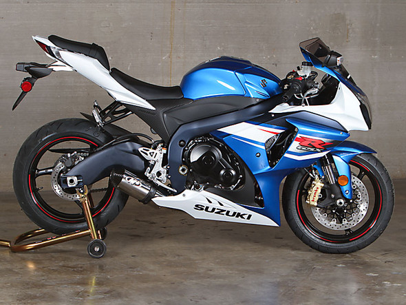 M4 12-16 Suzuki GSX-R 1000 Street Slayer Full Exhaust - Polished Canister
