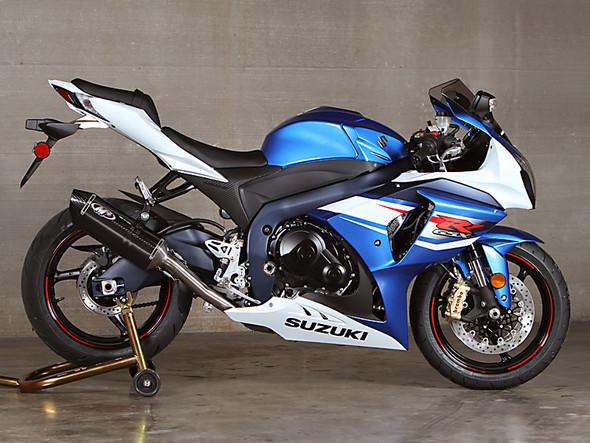 M4 12-16 Suzuki GSX-R 1000 MC36 Titanium Midpipe Full Exhaust - Carbon Canister