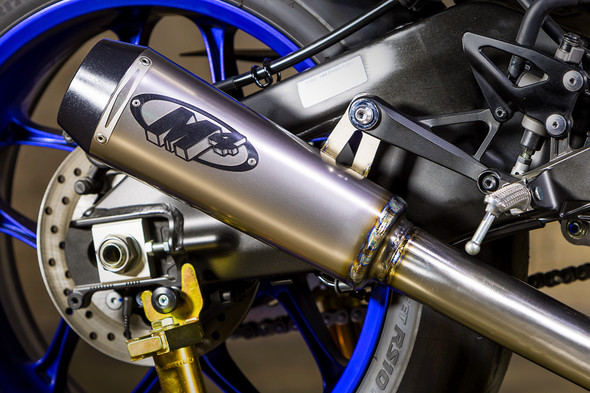 M4 15-20 Yamaha R1 GP2 Slip-On Exhaust - Titanium Canister
