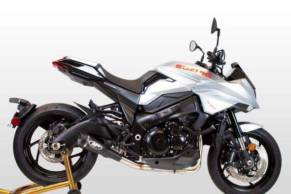 M4 2020 Suzuki Katana GP19 Full Exhaust - Black Canister