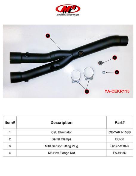 M4 15-20 Yamaha R1 Cat Eliminator Kit - Black