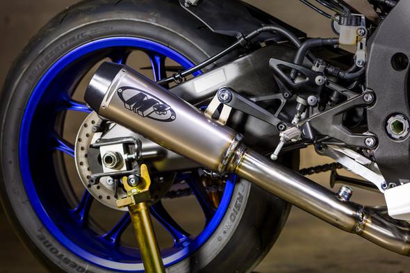 M4 15-19 Yamaha R1 GP2 Titanium Piping Cat Eliminator Slip-On Exhaust - Titanium Canister