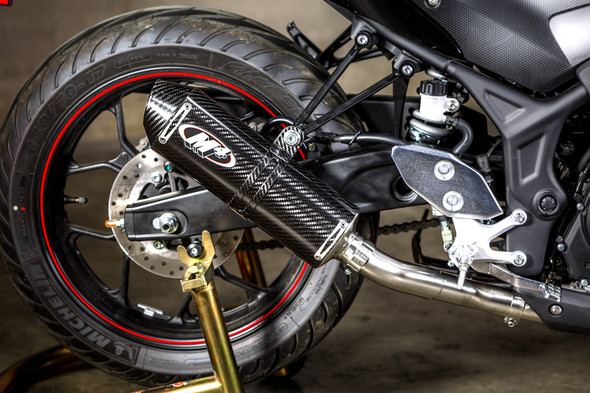 M4 15-20 Yamaha R3 Full Exhaust - Carbon Canister