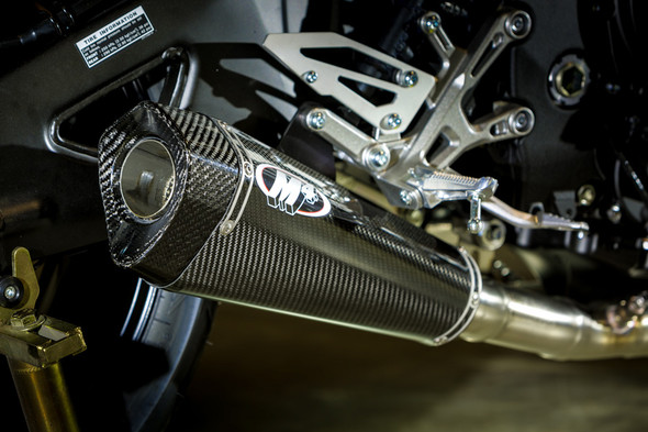 M4 17-20 Yamaha FZ-10/MT-10 X-Model Slip-On Exhaust - Carbon Canister
