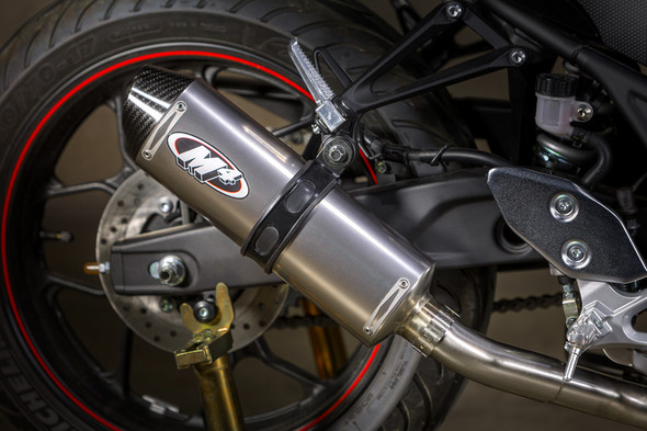 M4 15-20 Yamaha R3 Full Exhaust - Titanium Canister