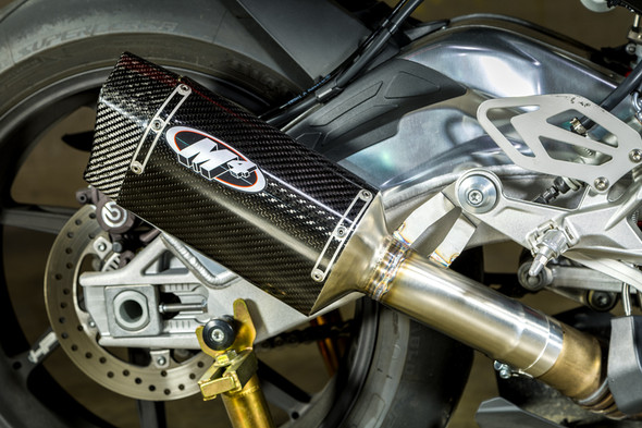 M4 15-16 BMW S1000RR Tech1 Slip-On Exhaust - Carbon Canister
