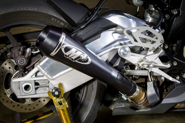 M4 15-16 BMW S1000RR GP Slip-On Exhaust - Black Canister