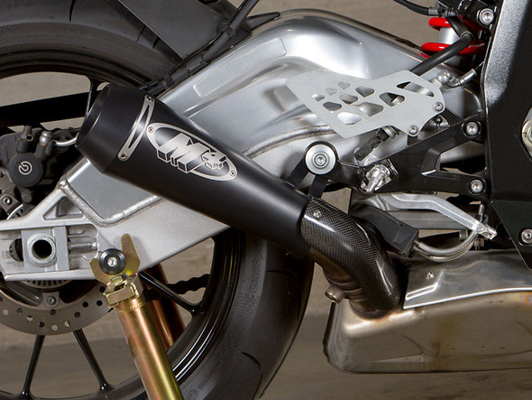 M4 10-14 BMW S1000RR GP Slip-On Exhaust - Black Canister
