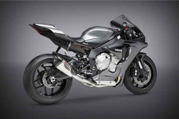 Yoshimura 15-20 Yamaha YZF-R1/M/S - Alpha T Race Works 3/4 Slip-On Exhaust - SS/SS/CF