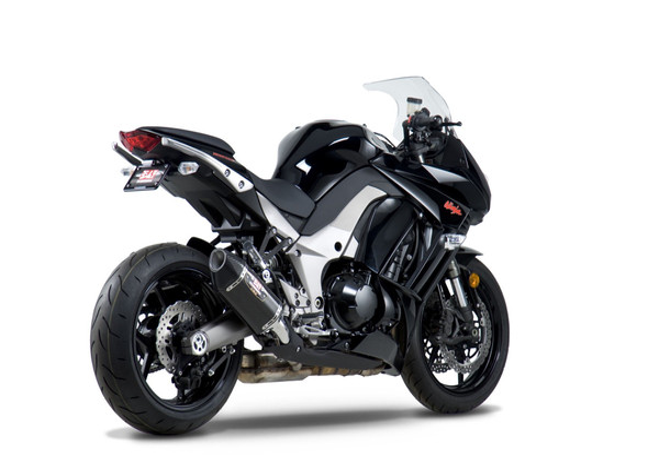 Yoshimura 11-13 Kawasaki Ninja 1000 R-77 - Street Slip-On Exhaust - Dual Canister