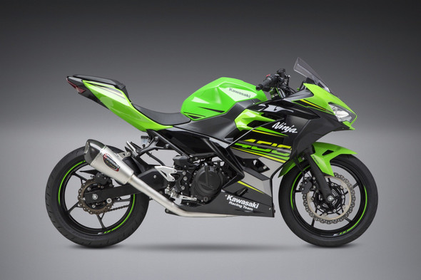 Yoshimura 18-20 Kawasaki Ninja 400 / 19 Z400 - Alpha T Race Works Full Exhaust - SS/SS/CF