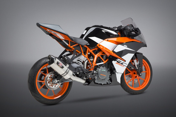 Yoshimura 17-19 KTM 390 Duke / RC390 - R-77 Race Works 3/4 Slip-On Exhaust - SS/SS/CF