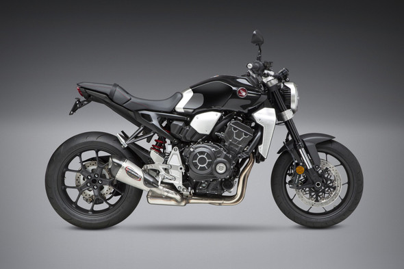 Yoshimura 18 Honda CB 1000R Alpha T - Street Works Slip-On Exhaust - SS/SS/CF