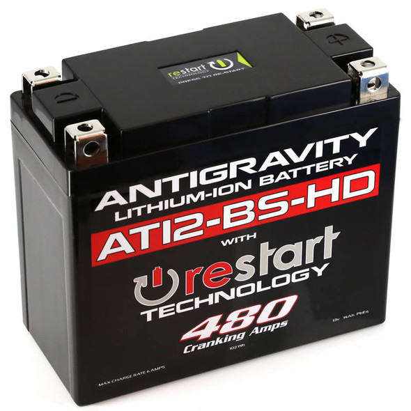 Antigravity Batteries Lithium Battery - AT12BS-HD-RD - 480 CA