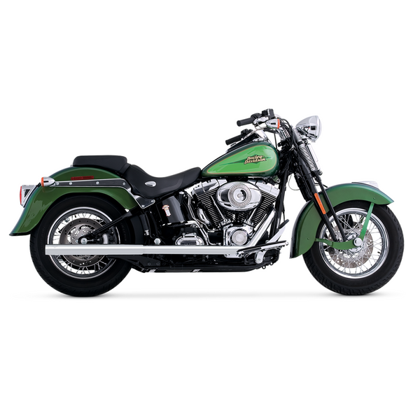 Vance & Hines Softail Duals Full Exhaust: 96-11 Softail Models - Chrome