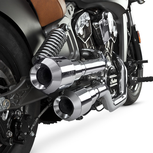Vance & Hines Hi-Output Grenades Full Exhaust: 15-19 Scout - Chrome