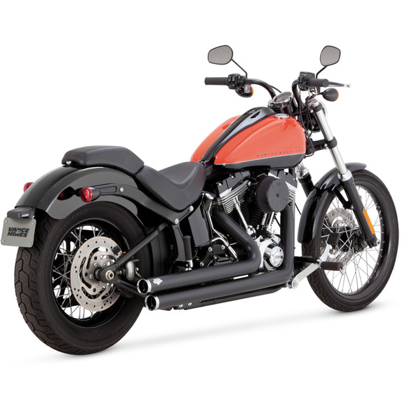 Vance & Hines Big Shot Staggered 2-into-2 Exhaust: 86-17 Softail