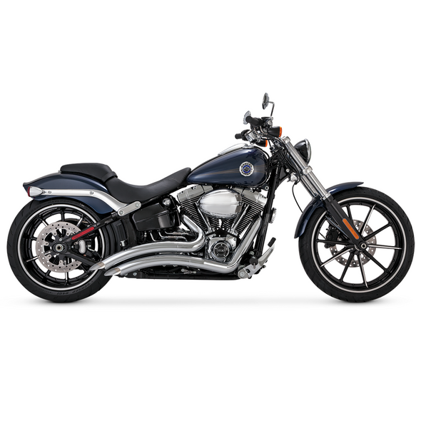 Vance & Hines Radius 2-into-2 Full Exhaust: 13-20 Softail Breakout - Chrome