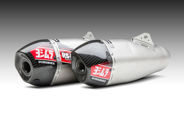 Yoshimura 17-19 Honda CRF 450R/RX - RS-9T Signature Slip-On Exhaust - SS/SS/CF