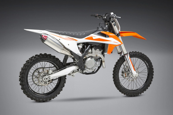 Yoshimura 19-20 KTM 250/350/SX-F/XC-F / 19-20 Husqvarna FC250/FC350 - RS-4 Signature Slip-On Exhaust - SS/AL/CF
