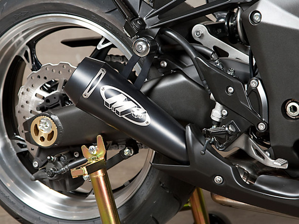 M4 10-20 Kawasaki Z1000/Ninja 1000 GP Dual Slip-On Exhaust - Black Canisters