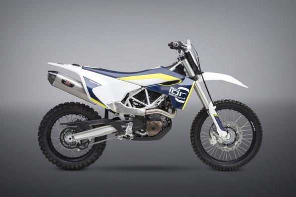 Yoshimura KTM 690 Enduro R / Husqvarna 701 - R-77 Race Works Slip-On Exhaust - SS/SS/CF