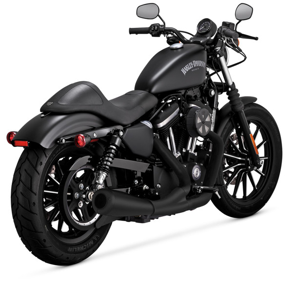 Vance & Hines 2-into-1 Upsweep Full Exhaust System: 07-20 Sportster Models