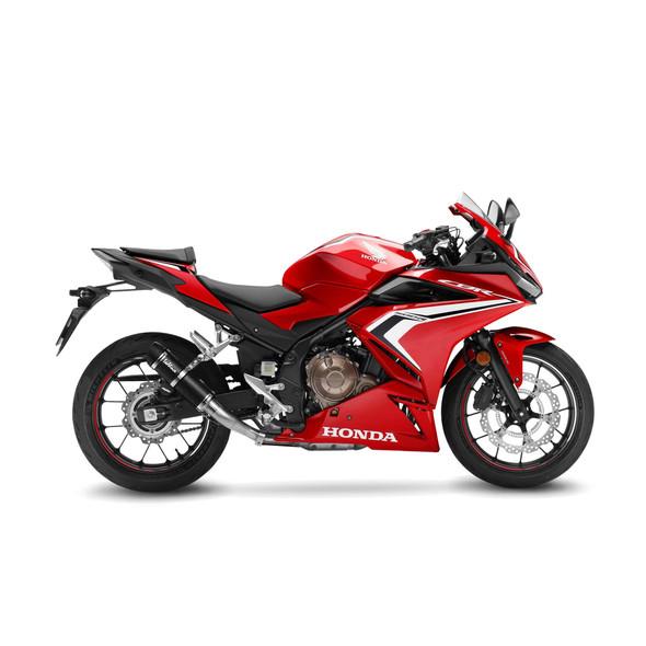 Leo Vince 19-20 Honda CBR 500R GP Corsa Evo Slip-On Exhaust - Carbon Fiber Canister