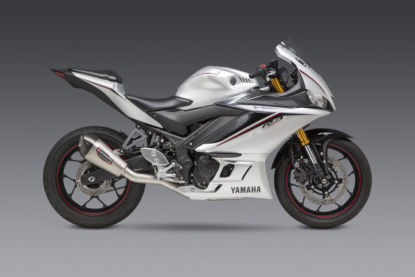 Yoshimura 15-20 Yamaha YZF-R3 - Alpha T Race Works Full Exhaust - SS/SS/CF