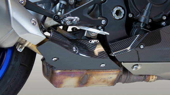M4 15-20 Yamaha R1 Carbon Fiber Heat Shield
