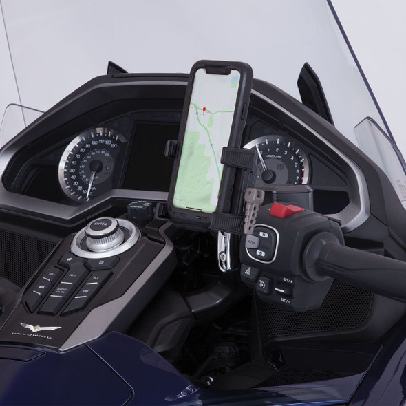 Goldstrike Smartphone Holder w/ Perch Mount in Black or Chrome