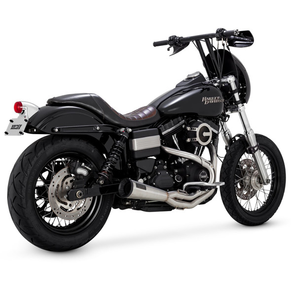 Vance & Hines Stainless 2:1 Upsweep Exhaust - HD 91-17 Dyna - Stainless