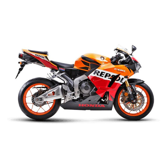 Akrapovic 13-20 Honda CBR 600RR - Slip-On Exhaust - Titanium/Carbon Canister